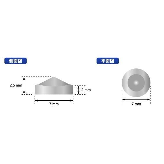 とんがりゲルマニウム金属粒 大きめの直径7ミリ×4粒入り 一般医療機器 肩こり 腰痛 解消グッズ プレゼント 日本製 自社製造 soseikan-ya 10