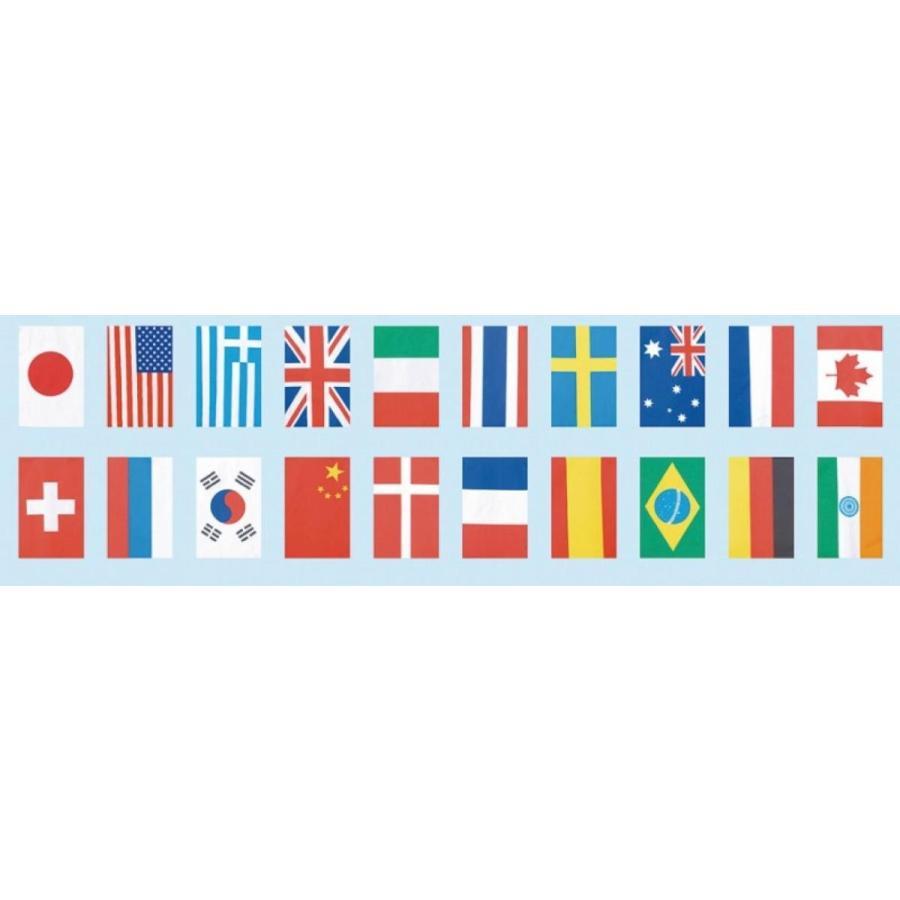 イベント向け[店舗装飾品]テトロン20ヶ国 連続旗(大) (購入単位:1個〜)保育園/運動会/応援に!