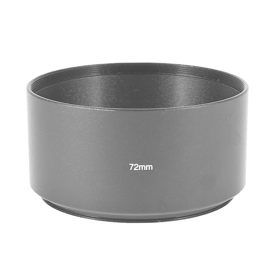 uxcell レンズフードカバー 付与 売れ筋 レンズフードスリーブカバー アルミねじ込みタイプ 72mm カメラ用 ブラック