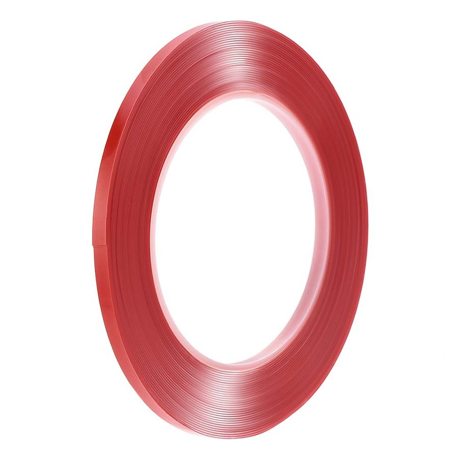 uxcell 新品未使用正規品 アクリル高温テープ 耐熱アクリル 両面接着テープ タッチスクリーン修復 全長10m 厚0.5mm テープ幅5mm レッドィルム 交換無料 クリア
