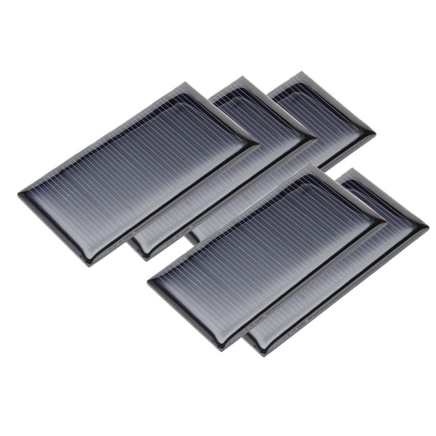 uxcell 出色 ソーラーパネル 多結晶太陽電池パネル 5V 60mA 35mm 5個入り まとめ買い特価 67.5mm x