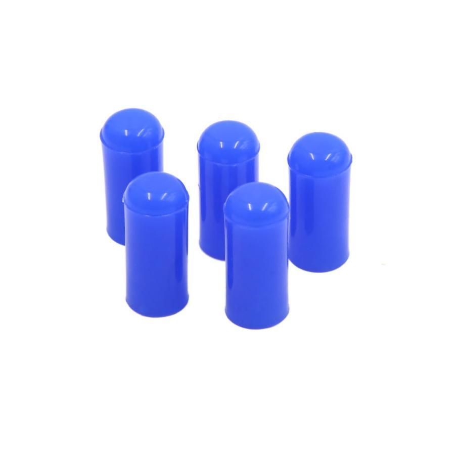 uxcell シリコンキャップ 4mm シリコン ブランキング キャップ インテーク 真空 限定特価 ブルー 海外輸入 5個入り エンド ホース ブン チューブ