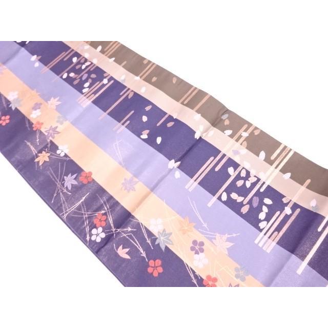 宗sou 霞に吹き寄せ模様織出し全通袋帯【リサイクル】【着】