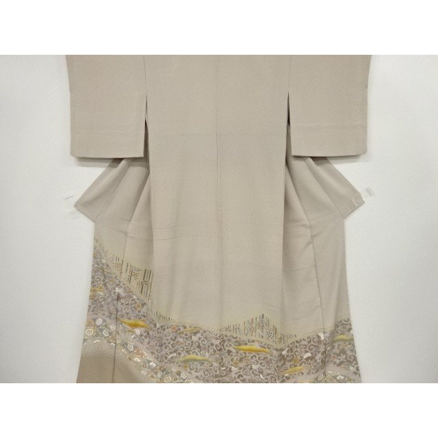 宗sou 金彩霞に松竹梅花模様刺繍一つ紋色留袖【リサイクル】【着】