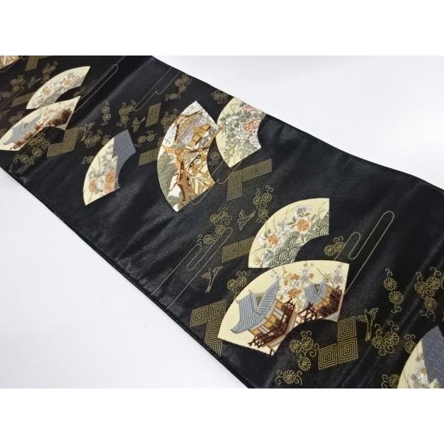 宗sou 古代九百錦扇洛中洛外織出し袋帯【リサイクル】【着】