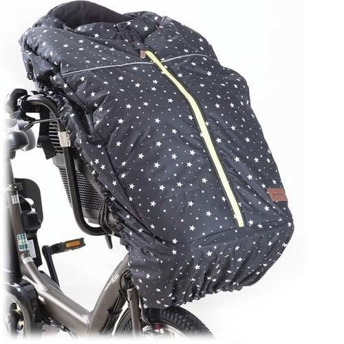 フロント チャイルドシートカバー 自転車前子供乗せ専用防寒具 ブラックスタードット ( 1コ入 )