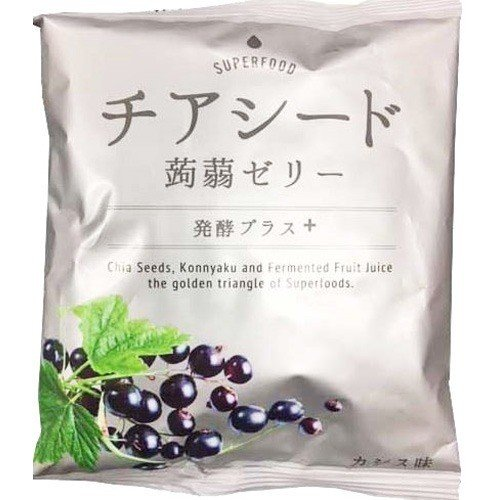 チアシード蒟蒻ゼリー発酵プラス カシス味 ( 10コ入 )|soukai