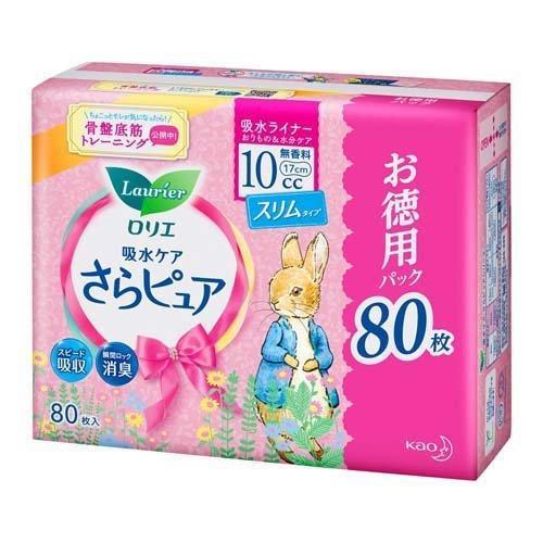 ロリエ さらピュア スリムタイプ 10cc 無香料 特大パック ( 80枚入 )/ ロリエ|soukai