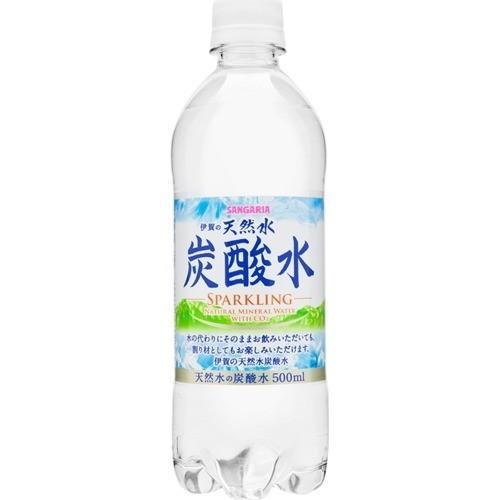 伊賀の天然水炭酸水(スパークリング) ( 500ml*24本入 )/ サンガリア 天然水炭酸水|soukai