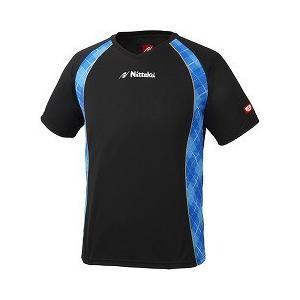 ニッタク ゲームシャツ ユニVチェックスシャツ ブラック*ブルー Oサイズ ( 1枚入 )/ ニッタク