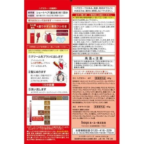 シエロ ヘアカラー EX クリーム 4P ピュアブラウン ( 1セット )/ シエロ(CIELO) ( 白髪染め )|soukai|02