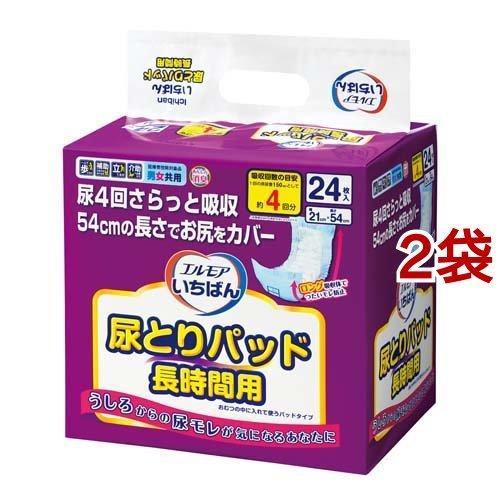 エルモア いちばん 尿とりパッド 長時間 ( 24枚入*2袋セット )/ エルモア いちばん soukai