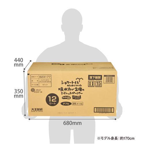 エリエール シャワートイレのためにつくった吸水力2倍のトイレットペーパー 花柄 ( 12ロール*6袋セット )/ エリエール|soukai|05
