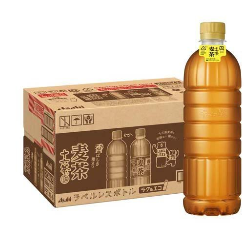 アサヒ 十六茶麦茶 ラベルレスボトル ( 660ml*24本入 )/ 十六茶|soukaidrink