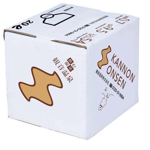 飲む温泉 観音温泉 バッグインボックス ( 20L ) ( 水 ) soukaidrink