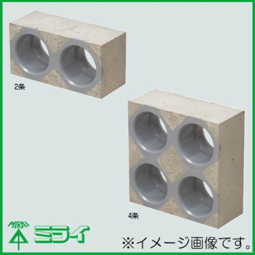 カクフレキ用レジンブロックコネクタ(壁厚100mm用) 3条 KFERB-130-3 MIRAI 未来工業 直送品