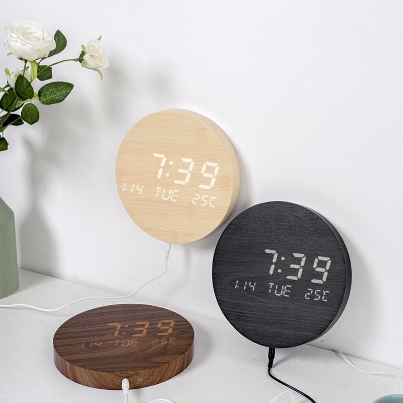 壁掛け時計 置き時計 デジタル電子時計 USB給電 おしゃれ 北欧風 掛け時計 掛時計 壁に掛けるLED夜の光時計 家庭用 soukyoushop 13