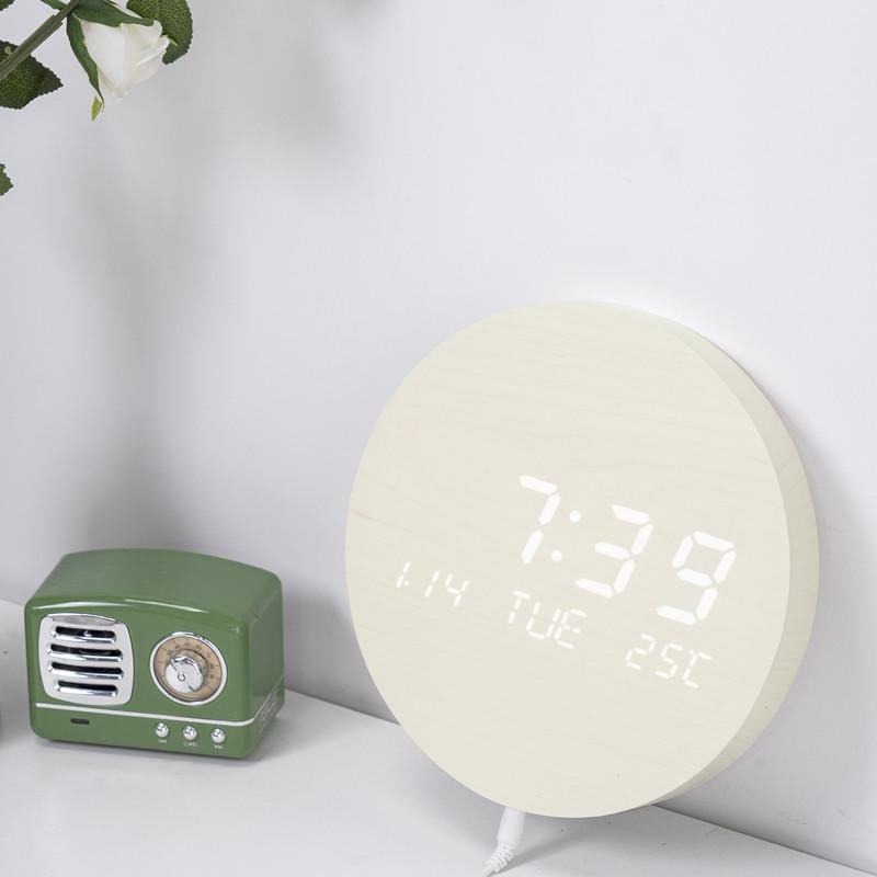 壁掛け時計 置き時計 デジタル電子時計 USB給電 おしゃれ 北欧風 掛け時計 掛時計 壁に掛けるLED夜の光時計 家庭用 soukyoushop 14