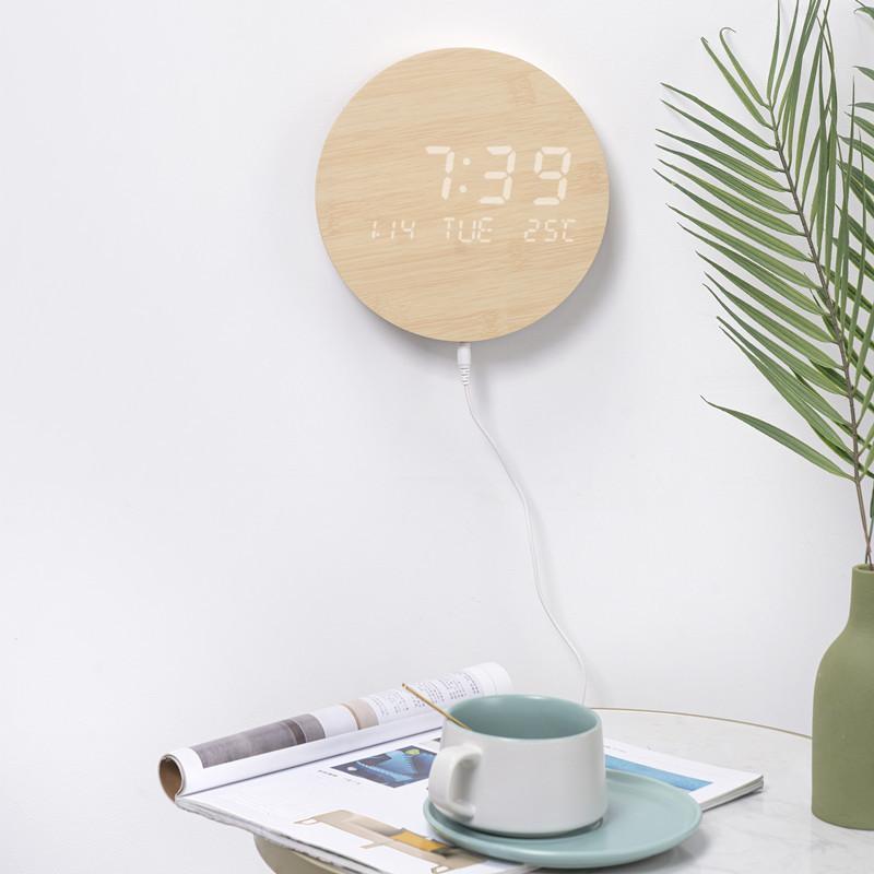 壁掛け時計 置き時計 デジタル電子時計 USB給電 おしゃれ 北欧風 掛け時計 掛時計 壁に掛けるLED夜の光時計 家庭用 soukyoushop 15