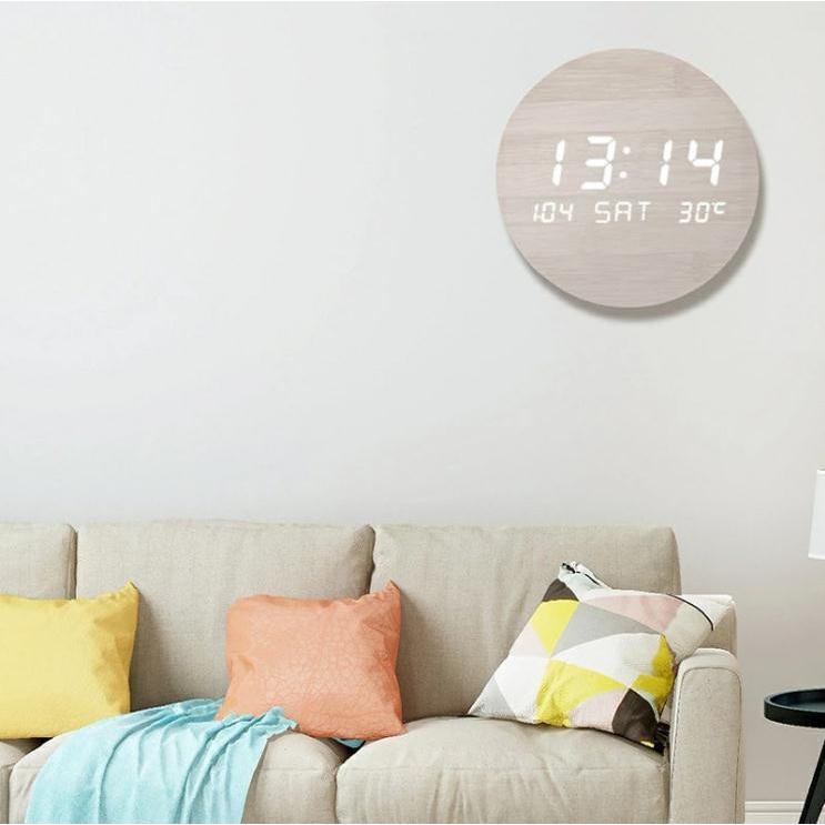 壁掛け時計 置き時計 デジタル電子時計 USB給電 おしゃれ 北欧風 掛け時計 掛時計 壁に掛けるLED夜の光時計 家庭用 soukyoushop 04