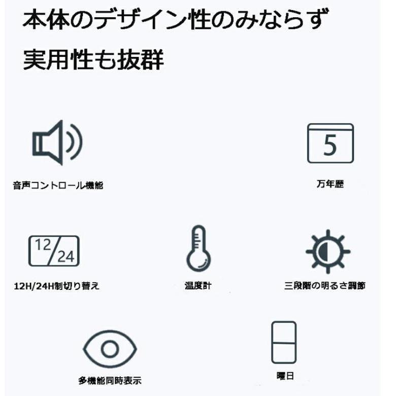 壁掛け時計 置き時計 デジタル電子時計 USB給電 おしゃれ 北欧風 掛け時計 掛時計 壁に掛けるLED夜の光時計 家庭用 soukyoushop 09