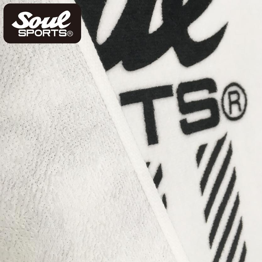 【SOUL SPORTS オリジナル】定番テープ柄 ロゴ デザイン 万能 フェイスタオル 白 綿100%|soul-sports|05