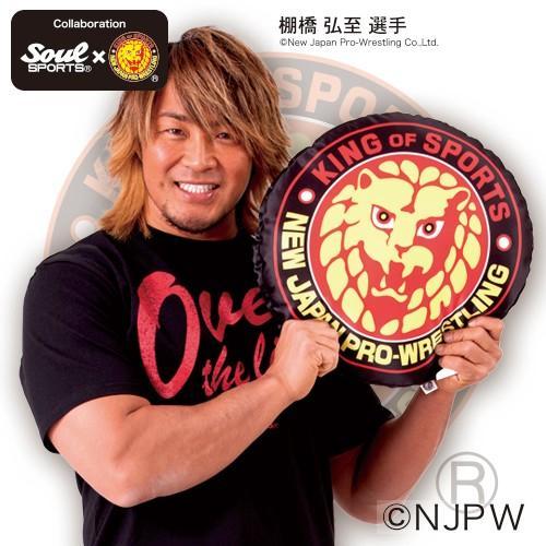 新日本プロレス×SOUL SPORTS 新日ライオンマーク柄 中綿クッション|soul-sports