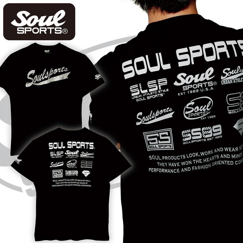SOUL SPORTSオリジナル フェス風集合ロゴ半袖Tシャツ ブラック/ホワイト|soul-sports|13