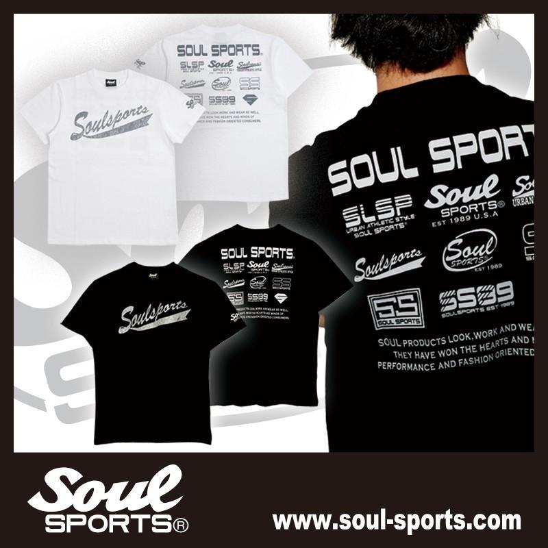 SOUL SPORTSオリジナル フェス風集合ロゴ半袖Tシャツ ブラック/ホワイト|soul-sports|16