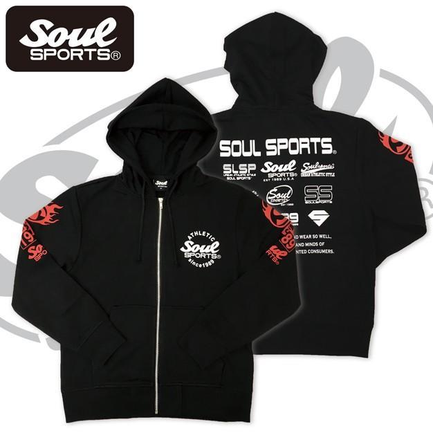 SOUL SPORTSオリジナル 集合ロゴジップパーカ ブラック 2018新作 soul-sports 03