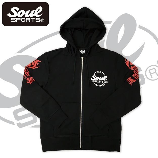 SOUL SPORTSオリジナル 集合ロゴジップパーカ ブラック 2018新作 soul-sports 04
