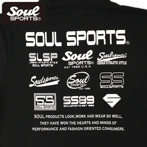 SOUL SPORTSオリジナル 集合ロゴジップパーカ ブラック 2018新作 soul-sports 08