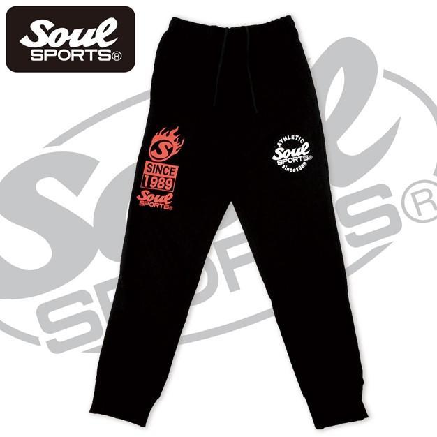 SOUL SPORTSオリジナル プリントロゴ スウェットパンツ(ロング丈) ブラック 2018新作|soul-sports|05