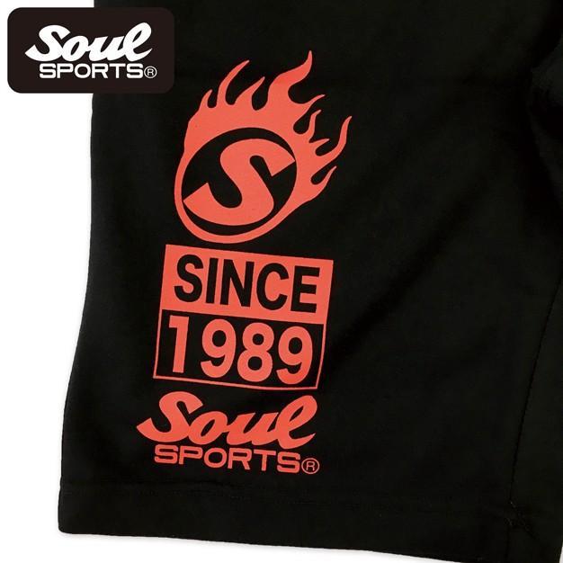 SOUL SPORTSオリジナル プリントロゴ スウェットパンツ(ショート丈) ブラック 2018新作|soul-sports|08