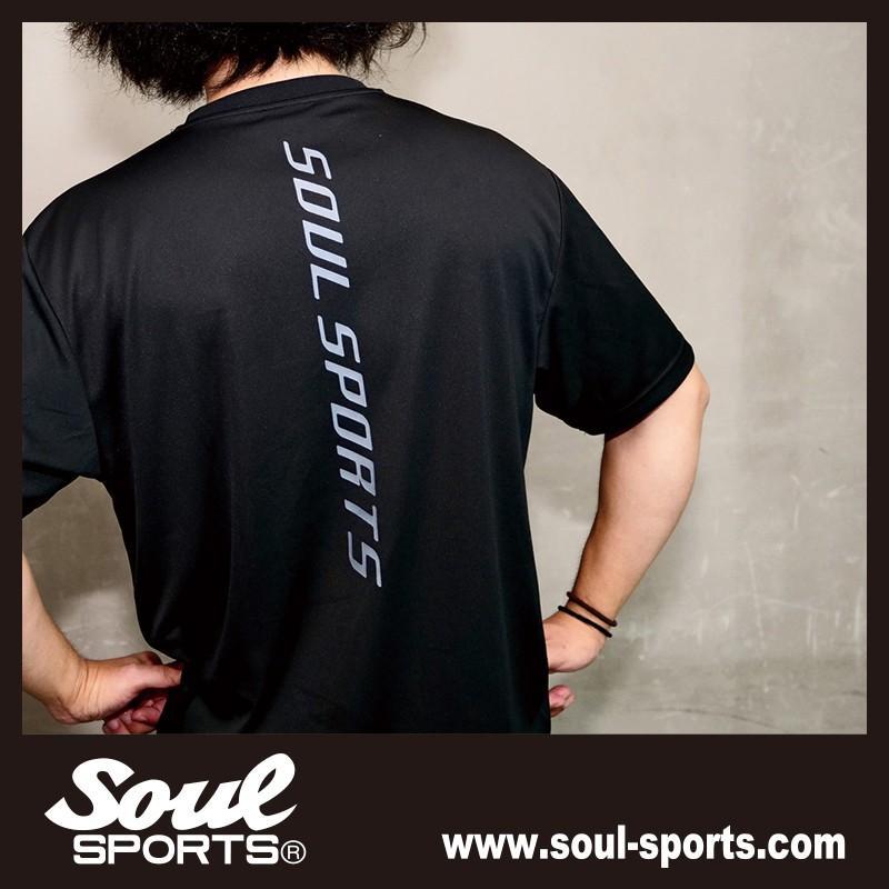 【SOUL SPORTS オリジナル】ソウルスポーツ 「S」マーク 反射ロゴ ドライ素材 半袖Tシャツ ブラック 2019新作 soul-sports 11