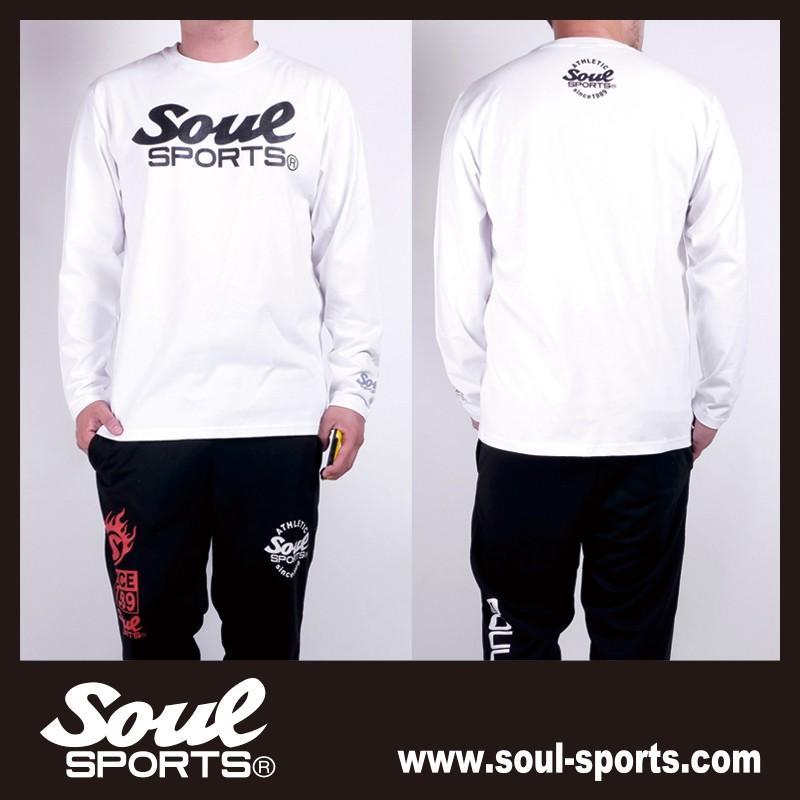 【SOUL SPORTS オリジナル】モノクロオーセンティックロゴ 長袖Tシャツ コットン100% ホワイト/ブラック 2019新作|soul-sports|13