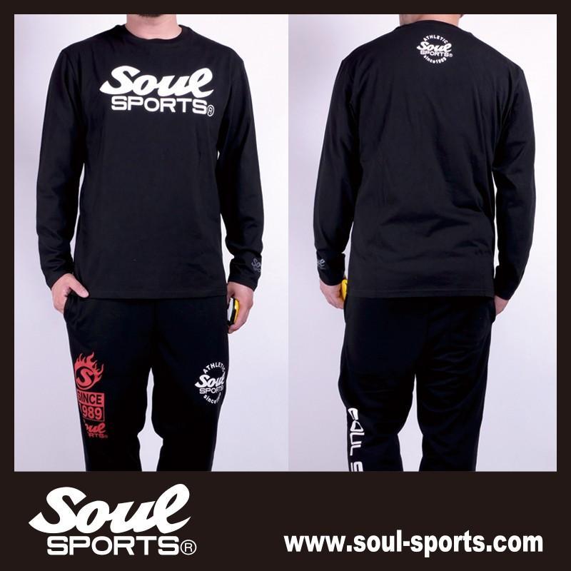 【SOUL SPORTS オリジナル】モノクロオーセンティックロゴ 長袖Tシャツ コットン100% ホワイト/ブラック 2019新作|soul-sports|14