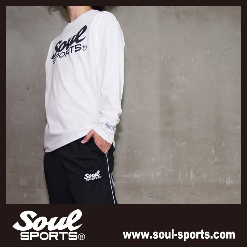 【SOUL SPORTS オリジナル】モノクロオーセンティックロゴ 長袖Tシャツ コットン100% ホワイト/ブラック 2019新作|soul-sports|15