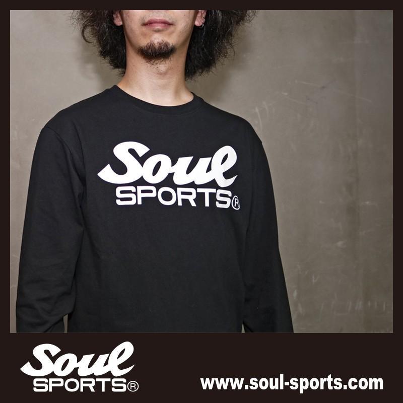 【SOUL SPORTS オリジナル】モノクロオーセンティックロゴ 長袖Tシャツ コットン100% ホワイト/ブラック 2019新作|soul-sports|17