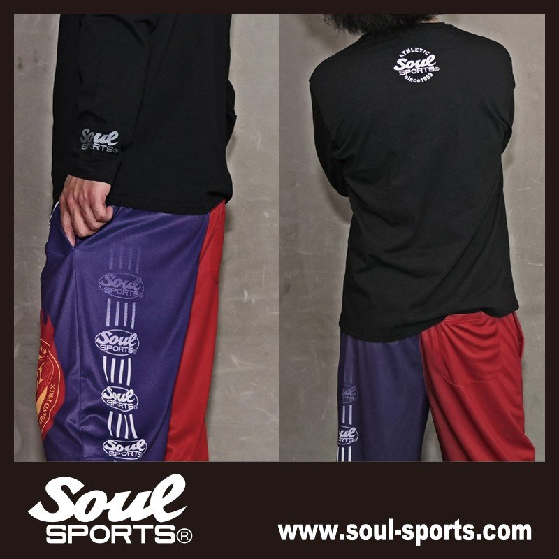 【SOUL SPORTS オリジナル】モノクロオーセンティックロゴ 長袖Tシャツ コットン100% ホワイト/ブラック 2019新作|soul-sports|19