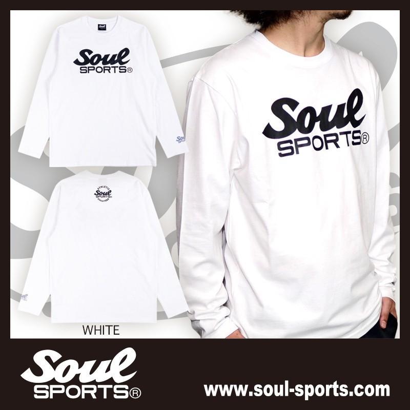 【SOUL SPORTS オリジナル】モノクロオーセンティックロゴ 長袖Tシャツ コットン100% ホワイト/ブラック 2019新作|soul-sports|03