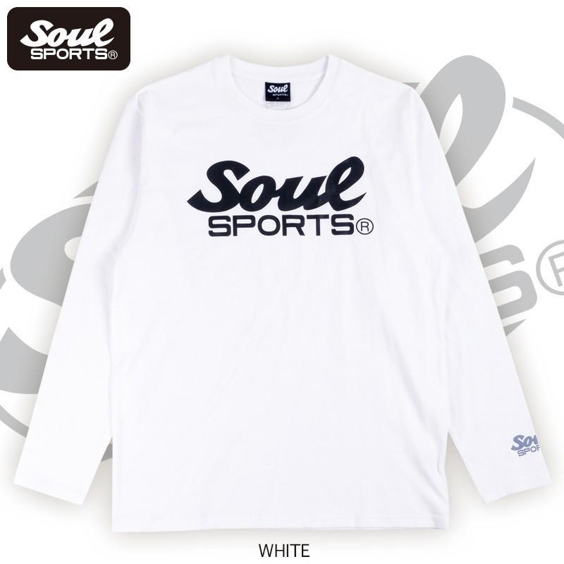 【SOUL SPORTS オリジナル】モノクロオーセンティックロゴ 長袖Tシャツ コットン100% ホワイト/ブラック 2019新作|soul-sports|04