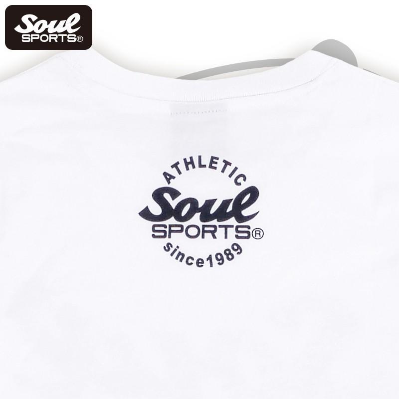 【SOUL SPORTS オリジナル】モノクロオーセンティックロゴ 長袖Tシャツ コットン100% ホワイト/ブラック 2019新作|soul-sports|07