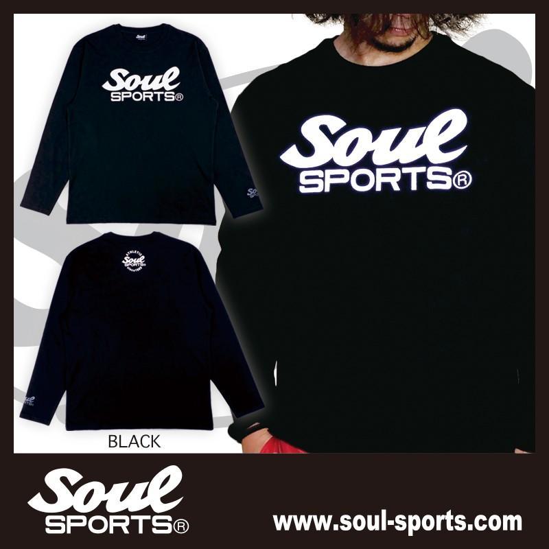 【SOUL SPORTS オリジナル】モノクロオーセンティックロゴ 長袖Tシャツ コットン100% ホワイト/ブラック 2019新作|soul-sports|09