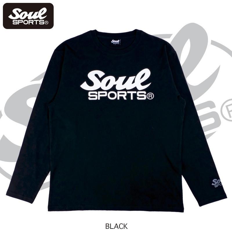 【SOUL SPORTS オリジナル】モノクロオーセンティックロゴ 長袖Tシャツ コットン100% ホワイト/ブラック 2019新作|soul-sports|10