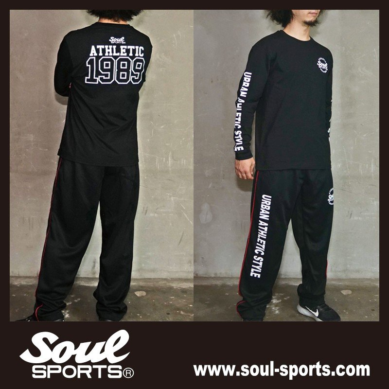 【SOUL SPORTS オリジナル】ナンバリングATHLETICロゴ 長袖Tシャツ コットン100% ホワイト/ブラック 2019新作|soul-sports|19