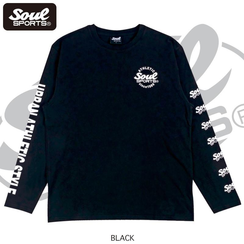 【SOUL SPORTS オリジナル】ナンバリングATHLETICロゴ 長袖Tシャツ コットン100% ホワイト/ブラック 2019新作|soul-sports|09