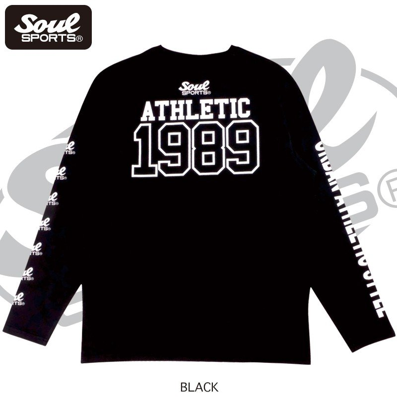 【SOUL SPORTS オリジナル】ナンバリングATHLETICロゴ 長袖Tシャツ コットン100% ホワイト/ブラック 2019新作|soul-sports|10