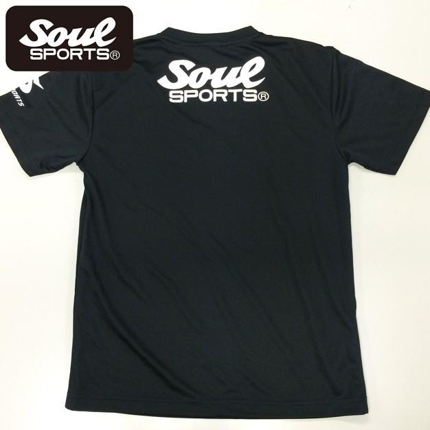 SOUL SPORTSオリジナル SOULロゴ ドライ半袖Tシャツ ブラック|soul-sports|02