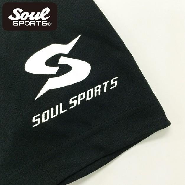 SOUL SPORTSオリジナル SOULロゴ ドライ半袖Tシャツ ブラック|soul-sports|03